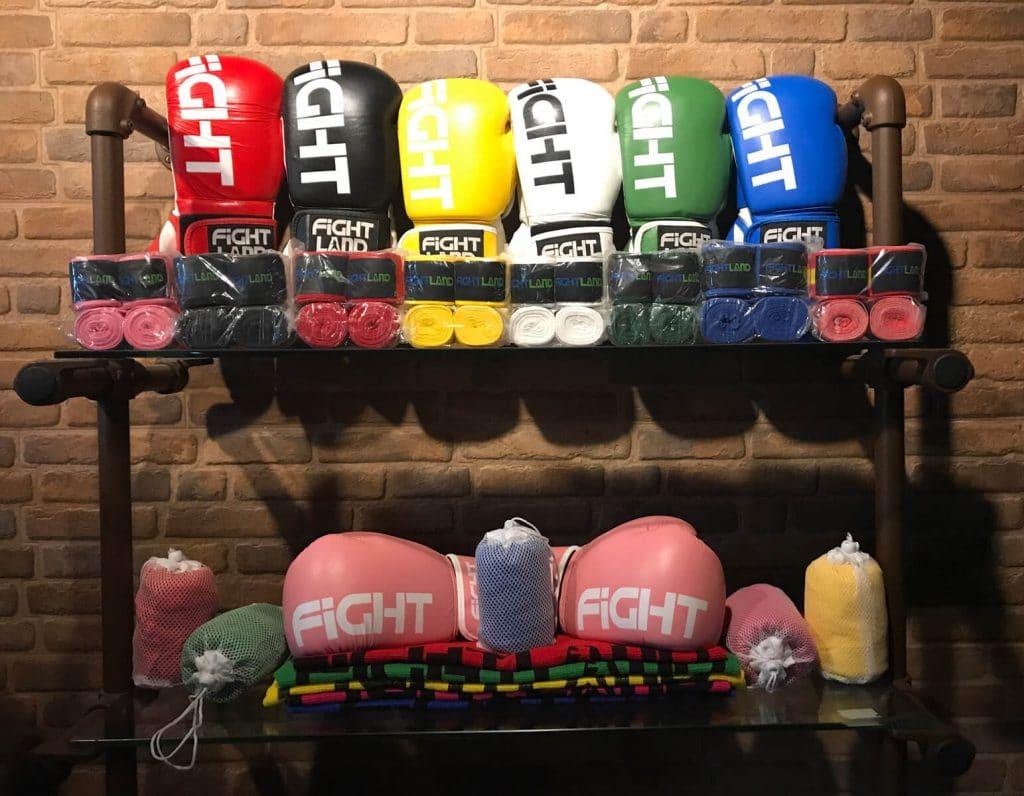 material necesario para boxear gimnasio